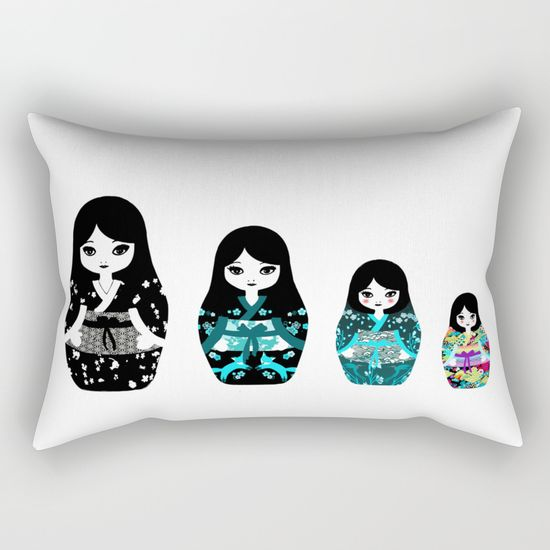 japanese-matriochka-rectangular-pillows
